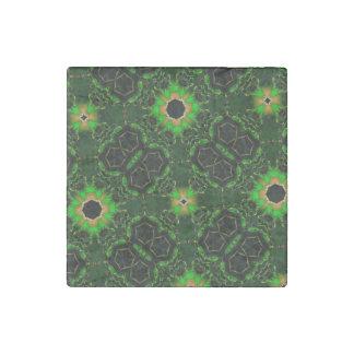 green yellow random pattern stone magnet