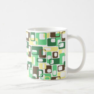 Green & Yellow Rounded Rectangles Coffee Mug