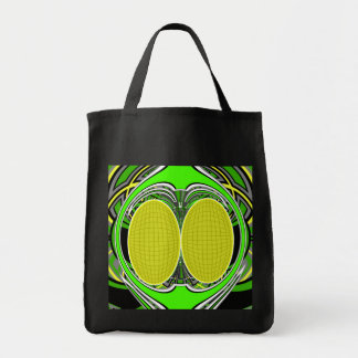 Green yellow superfly design canvas bag