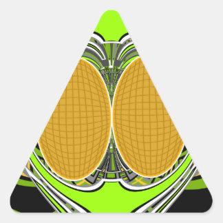 Green yellow superfly design triangle sticker