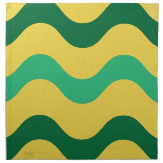 Green Yellow Waves American MoJo Napkins