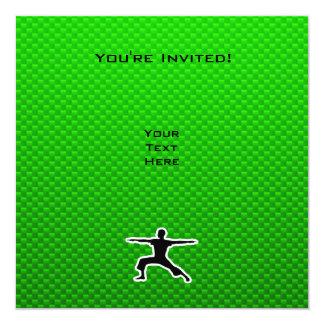 Green Yoga 13 Cm X 13 Cm Square Invitation Card