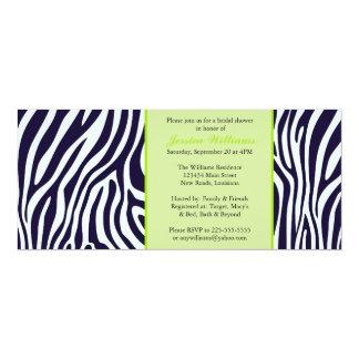 Green Zebra Bridal Shower 10 Cm X 24 Cm Invitation Card