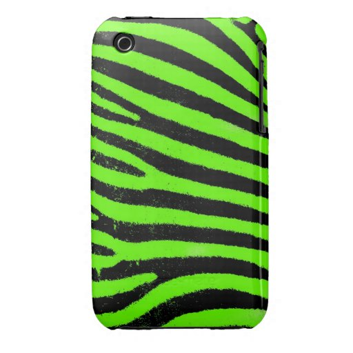 Green Zebra iPhone 3G/3GS Case-Mate Barely There™ iPhone 3 Covers