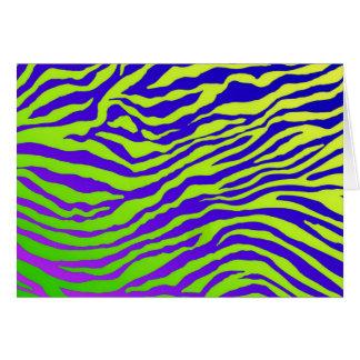 Green Zebra (landscape) Greeting Card