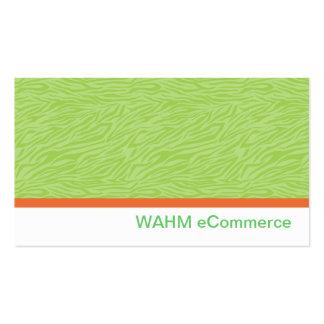 Green Zebra Print w/ Orange Stripe Pack Of Standard Business Cards