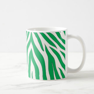 Green zebra striped mug