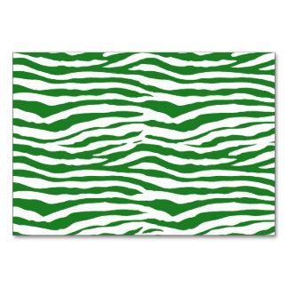Green Zebra Stripes Card