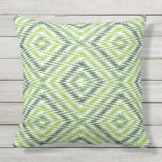Green Zig Zag Cushion