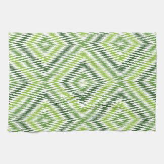 Green Zig Zag Kitchen Towels