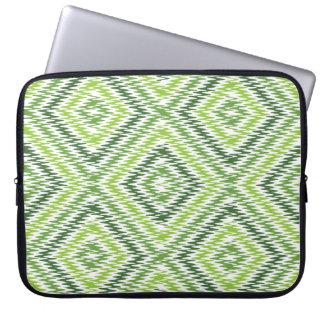 Green Zig Zag Laptop Sleeve