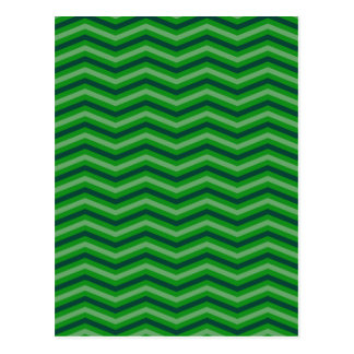 Green Zig Zag Pattern Postcards