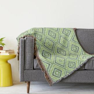 Green Zig Zag Throw Blanket