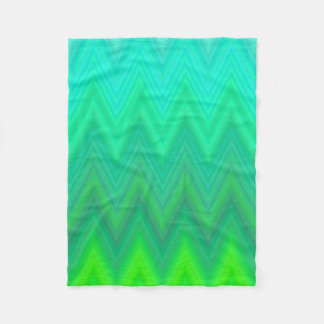 Green Zigzag Chevron Fleece Blanket