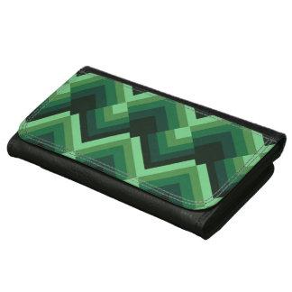 Green zigzag pattern wallet