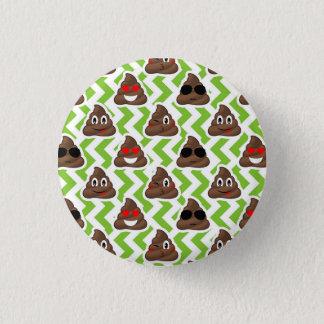 Green ZigZag Poop Pattern Emojis 3 Cm Round Badge
