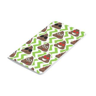 Green ZigZag Poop Pattern Emojis Journal