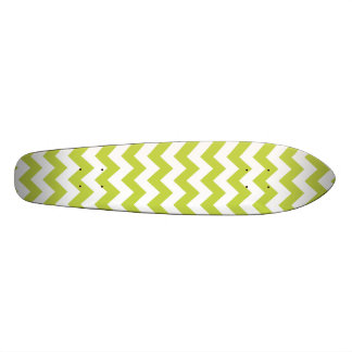 Green Zigzag Stripes Chevron Pattern Custom Skate Board