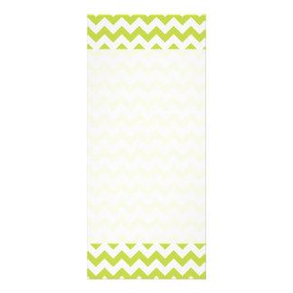 Green Zigzag Stripes Chevron Pattern Customized Rack Card