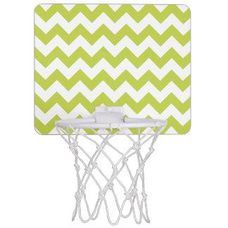 Green Zigzag Stripes Chevron Pattern Mini Basketball Hoop
