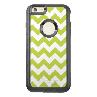Green Zigzag Stripes Chevron Pattern OtterBox iPhone 6/6s Plus Case