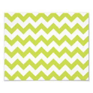Green Zigzag Stripes Chevron Pattern Photograph