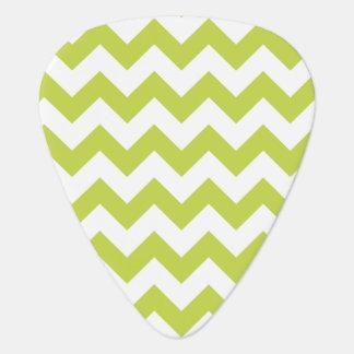 Green Zigzag Stripes Chevron Pattern Plectrum