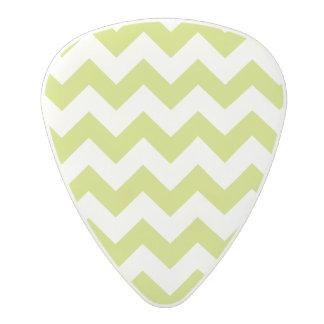 Green Zigzag Stripes Chevron Pattern Polycarbonate Guitar Pick
