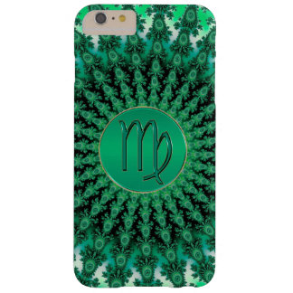 Green Zodiac Sign Virgo Fractal Mandala Barely There iPhone 6 Plus Case