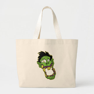 Green Zombie Head Bag