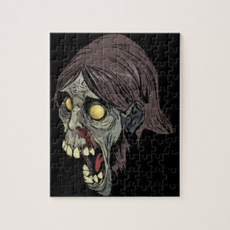Green Zombie Jigsaw Puzzle