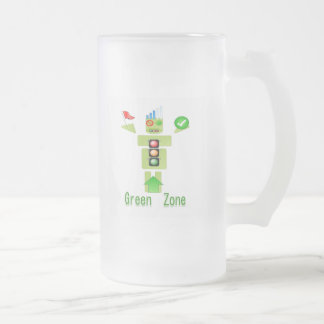 GREEN Zone : Perfect Frosted Glass Mug
