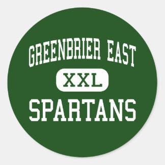 Greenbrier East - Spartans - High - Lewisburg Classic Round Sticker