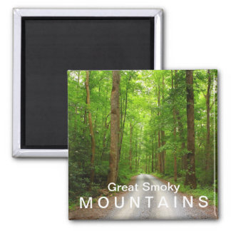 Greenbrier mountain road - Great Smoky Mountains Magnet