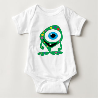 Greendot-Monster Baby Bodysuit