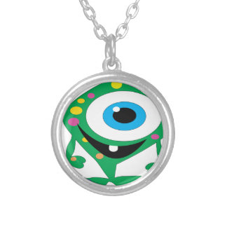 Greendot-Monster Silver Plated Necklace