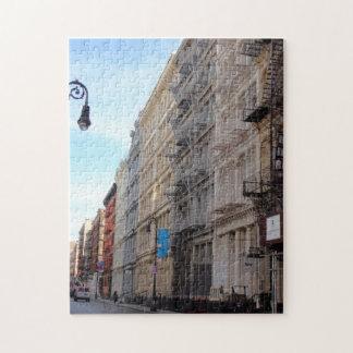Greene Street Cast Iron Architecture Soho New York Jigsaw Puzzle