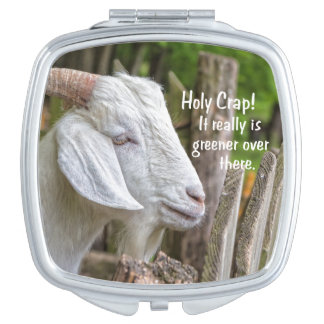 Greener Goat Square Compact Mirror 1