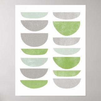 greenery, abstract, scandinavian poster print