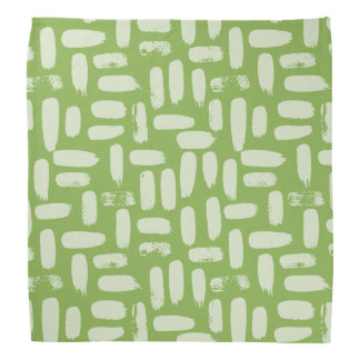Greenery Abstract Spots Pattern Bandana