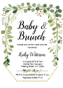brunch baby shower invitations zazzle au