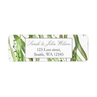 Greenery Botanical Wedding address label