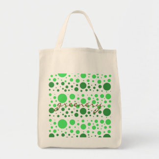 Greenery Dots Grocery Tote Bag