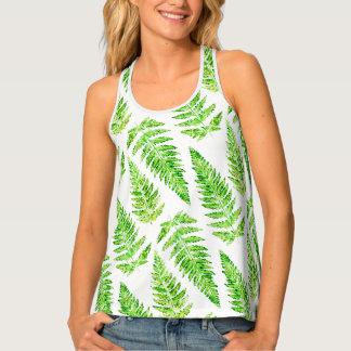Greenery fern print patterned top