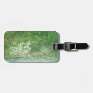 greenery grass mountain bag tag