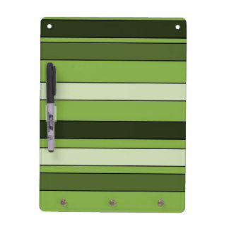 Greenery Green Horizontal Stripes Pattern Elegant Dry Erase Board