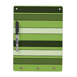 Greenery Green Horizontal Stripes Pattern Elegant Dry Erase Boards