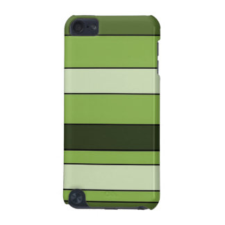 Greenery Green Horizontal Stripes Pattern Elegant iPod Touch (5th Generation) Covers