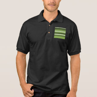 Greenery Green Horizontal Stripes Pattern Elegant Polo Shirt