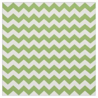 Greenery Green White Zigzag Chevrons 2017 Pattern Fabric